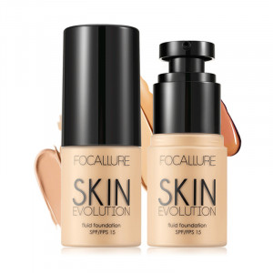 Base Face Liquid Foundation Cream Full Coverage Concealer Oil-control Easy to Wear Soft Face Makeup Foundation