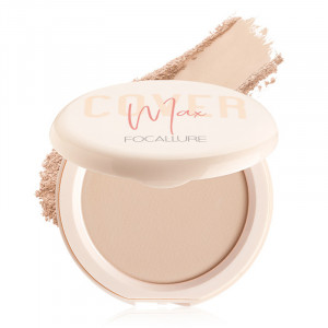 Face Powder Long-lasting Perfect Cover Oil Control Matte Two Way Cake Vitamin C Lightweight Facial Makeup