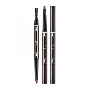 Double Ended Automatic Rotary Eyebrow Pencil Waterproof Natural Eyebrow Pomade Brow Pencil with Brush