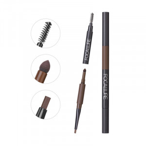 3 in 1 Auto Brows Pen 24 Hours Long-lasting Tint Shade Make Up Soft Smooth Fashion Eyebrow Pencil and Powder Eyebrows