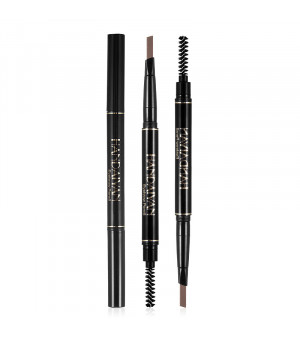 Drawing Double Head Eyebrow Pencil Long Lasting Waterproof 5 Colors Ultra Fine Triangle Eye Brow Tint Brown Color